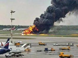 Plane crash in Russia Video