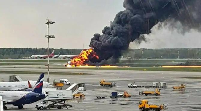 Plane crash in Russia Video