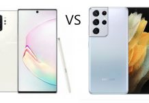 Samsung Galaxy Note 10 Plus vs Samsung Galaxy S21 Ultra