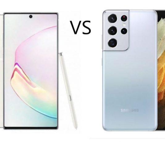 Samsung Galaxy Note 10 Plus vs Samsung Galaxy S21 Ultra